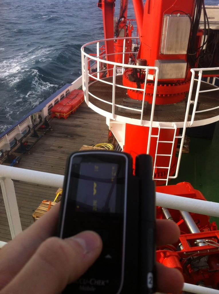 Auch auf Forschungsschiffen wie hier der FS Maria S. Merian hat mir das Gerät immer gute Dienste erwiesen
