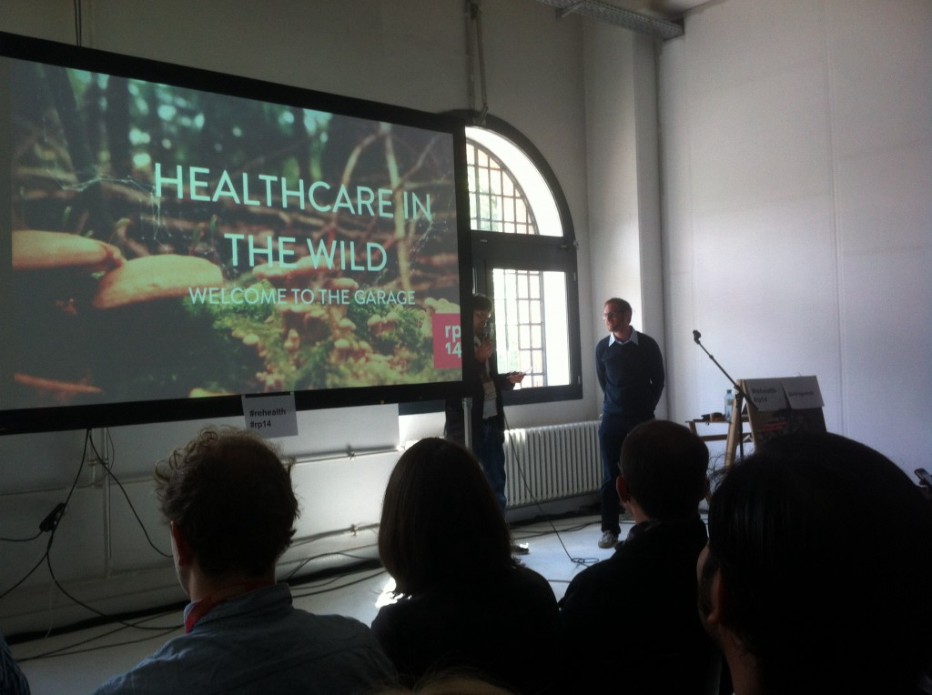 """Healthcare in the Wild"" lautete Fredriks Talk, in Anspielung auf das Motto der Konferenz ""into the wild"""