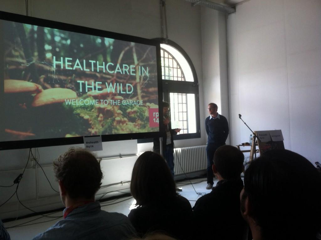 """""""Healthcare in the Wild"""" lautete Fredriks Talk, in Anspielung auf das Motto der Konferenz """"into the wild"""""""
