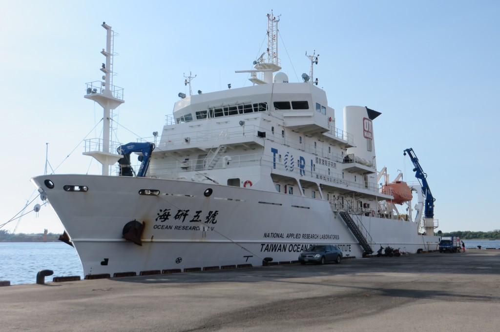 Die OR5 Anfang September, bevor wir ins südchinesische Meer ausgelaufen sind
